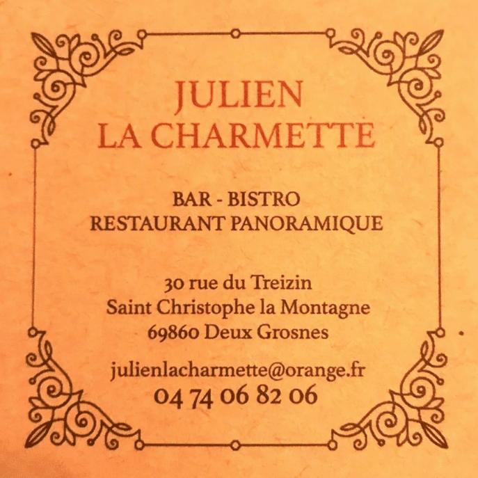 La Charmette Julien restaurant bar Saint Christophe la Montagne Saone et loire Rhone UCA Tramayes-2