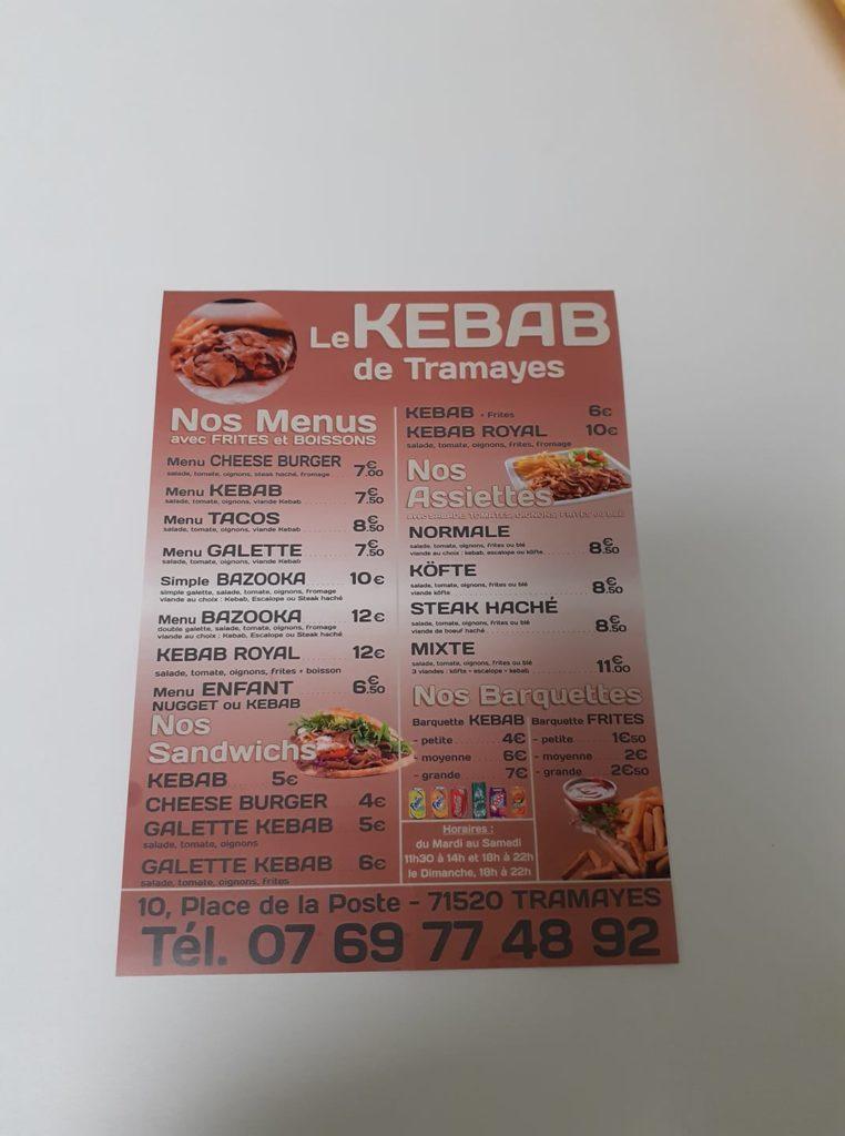 Tramayes Kebab restauration rapide Saone et loire UCA Tramayes-1